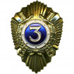 Нагрудный знак Классность р/с МВД 3 металл