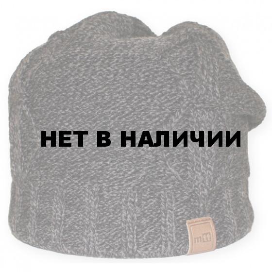 Шапка полушерстяная marhatter 3602 черный/серый