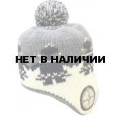 Шапка полушерстяная marhatter 4116 белый/черный