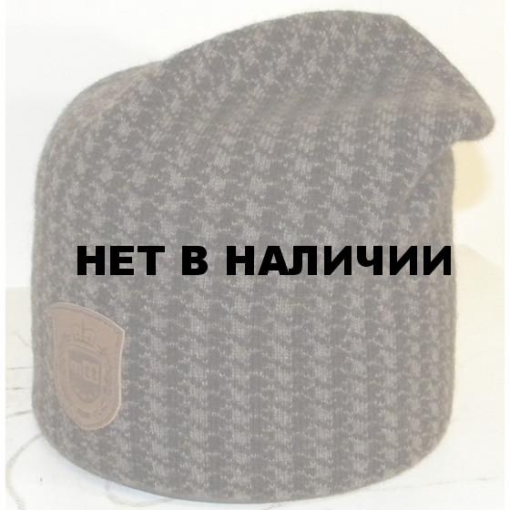Шапка полушерстяная marhatter 4030 черный/серый