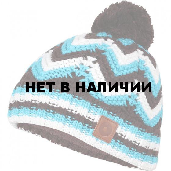 Шапка полушерстяная marhatter 4456 коричневый/лагуна