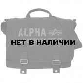 Сумка Alpha Industries Canvas Courier Bag black