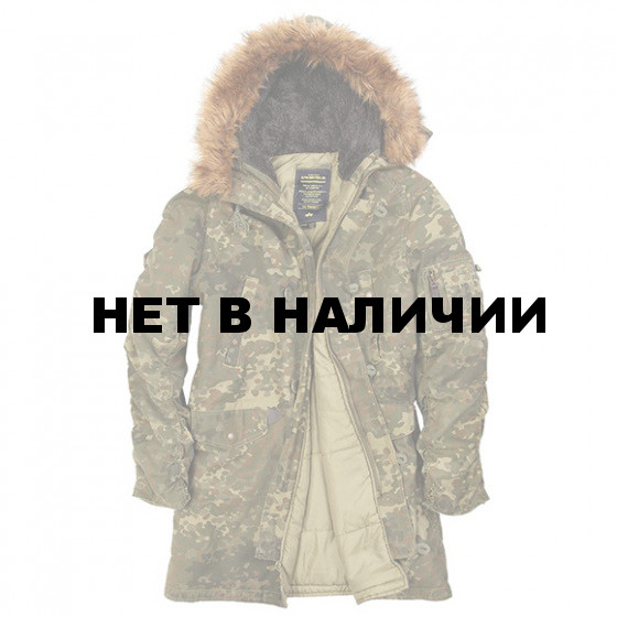 Куртка N-3B Slim Fit Cotton Alpha Industries spotted camo