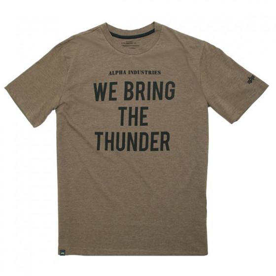 Футболка Thunder Alpha Industries heater olive/black