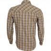 Рубашка Grid, длинный рукав, серо-зеленая
