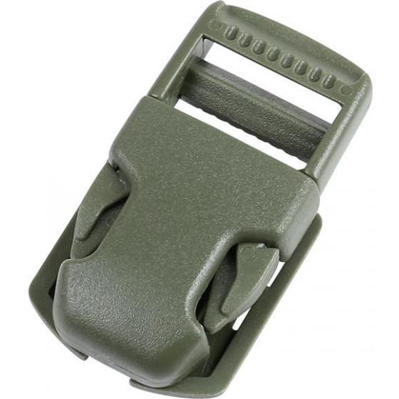 Пряжка фастекс на подложке 20 мм 1-06049/1-06050/1-06051 (3 части) одна регулировка черный Duraflex