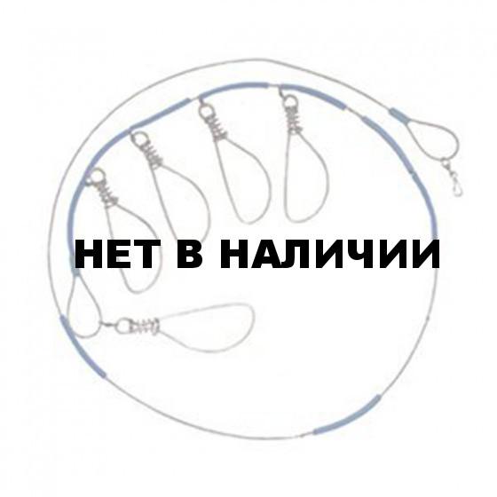 Кукан метал. трос, 5 застежек (ТРИ КИТА)