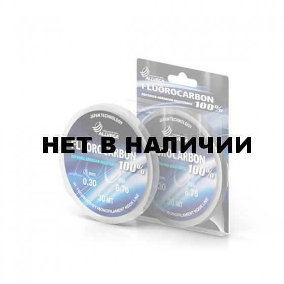 Леска монофильная ALLVEGA FX FLUOROCARBON 100% 0,25mm (30м) ф