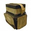 Ящик-сумка рыболовный пенопластовый 2-х ярус. B-2 LUX