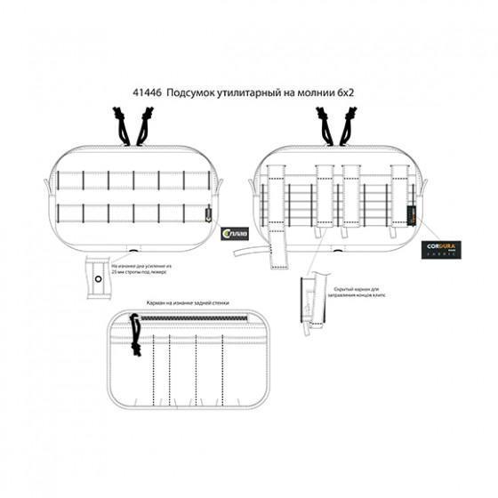 Подсумок утилитарный на молнии 6x2 multipat (multicam)