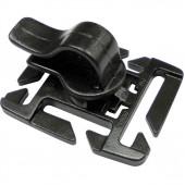 Держатель для трубки гидратора на лямку 25-20мм 1-07324/1-07301 (2 части) черный Duraflex