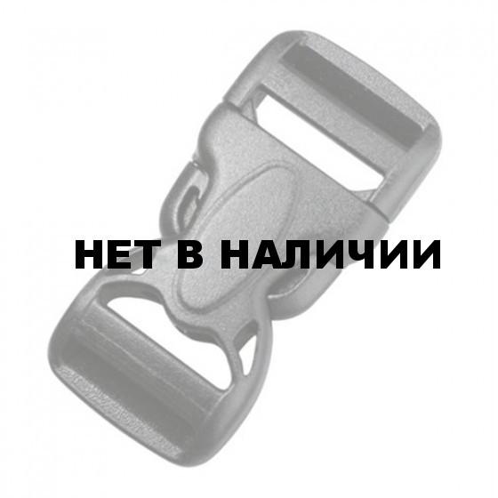 Пряжка фастекс с замком 50 мм 1-21120/1-20120 (2 части) две регулировки черный Duraflex