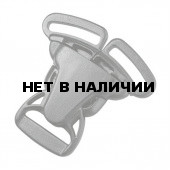 Пряжка фастекс тройной 25мм 1-07651/1-07650 (3 части) черный Duraflex