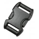 Пряжка фастекс 25 мм 1-00110/1-00111 (2 части) без регулировки черный Duraflex