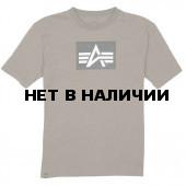 Футболка Logo Block Alpha Industries heather olive