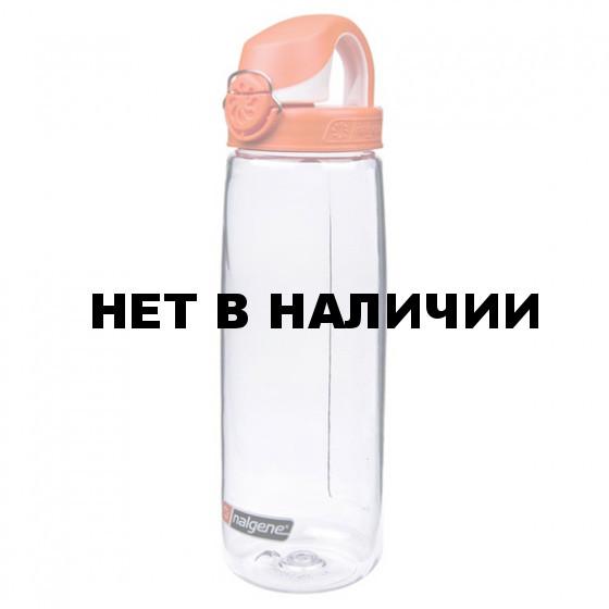 Бутылка Nalgene OTF CLEAR W/ORANGE & WHITE CAP