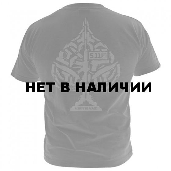 Футболка 5.11 Logo T S/S Ace Of Blades Black