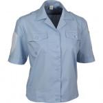 Рубашка форменная-М женская, короткий рукав, светло-голубая