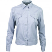 Рубашка форменная-М женская, длинный рукав, светло-голубая