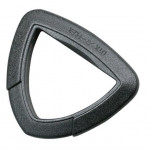 Пряжка полукольцо треугольное 25мм 1-20207 черный Duraflex