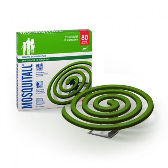 Спирали от комаров Mosquitall защита д/взрослых 10шт.