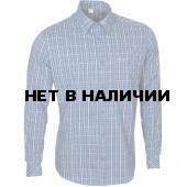 Рубашка мужская Sunburn, длинный рукав, клетка синяя