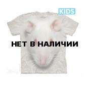 Футболка детская The Mountain Big Face White Rat Kids