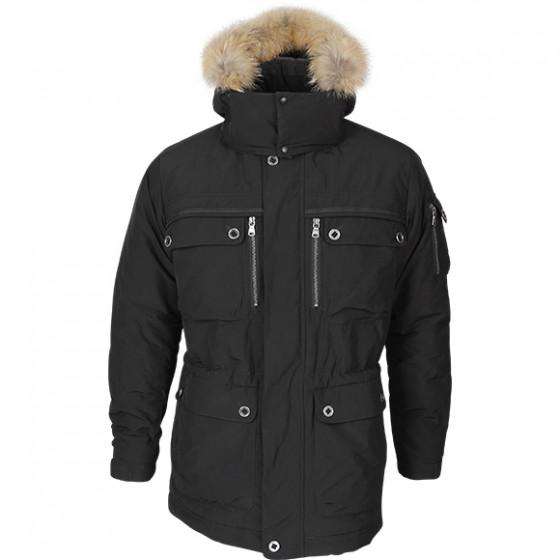 Куртка - парка McKinley черная, производитель Компания «Сплав» Купить - Интернет-магазин форменной одежды forma-odezhda.ru