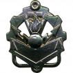 Эмблема петличная Инженерные войска нового образца полевая металл