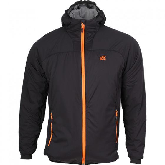 Куртка Alpha Polartec с капюшоном черно/оранжевая