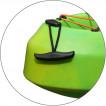 Байдарка мод. 10 с 2-мя сидушками желто-зеленая