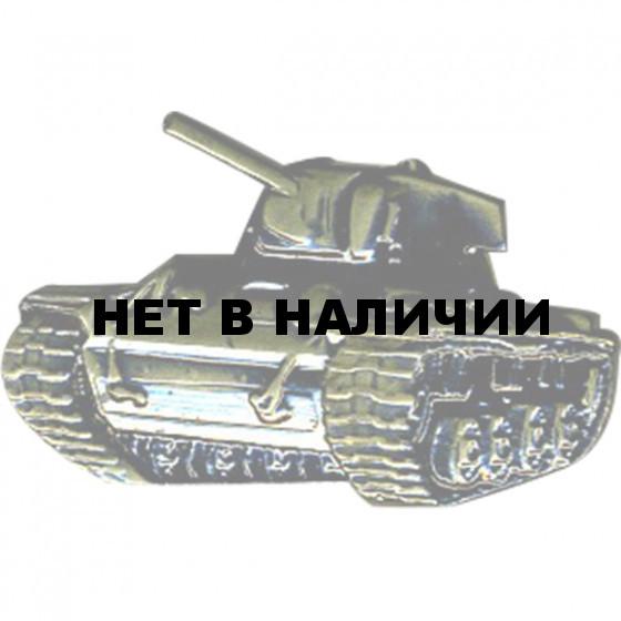 Миниатюрный знак Танк КВ-1 металл