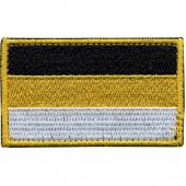 Нашивка на рукав Флаг Имперский с липучкой вышивка шёлк