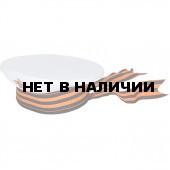 Бескозырка сувенирная Георгиевская лента белая