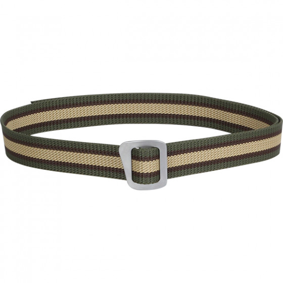 Ремень Simple 30 мм трехцветный с серой пряжкой