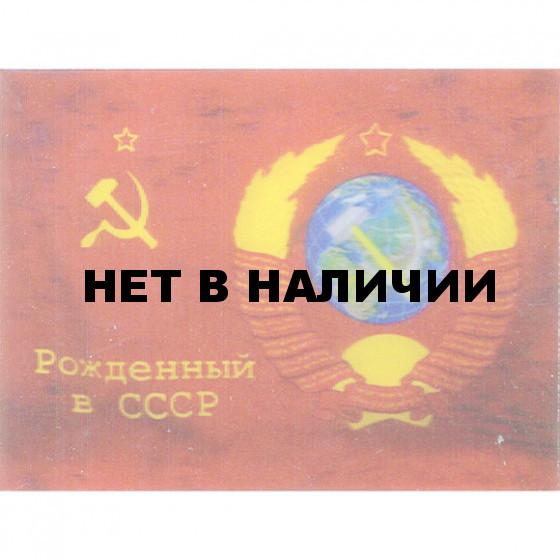 Магнит 3Д 009 Рожденный в СССР флаг сувенирный