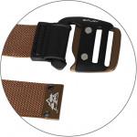 Ремень эластичный Питон коричневый,пряжка коричневая 105
