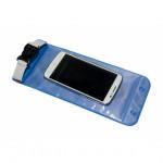 Гермочехол для телефона ПВХ литой голубой
