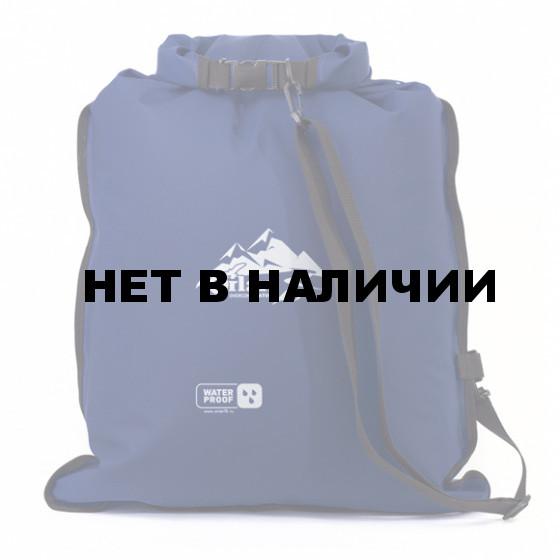 Гермомешок Компакт ПВХ трикотаж, 45л темно-синий