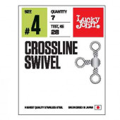Вертлюги LUCKY JOHN трехстор. LJ Pro Series CROSSLINE SWIVEL 006 5 уп. по 7 шт