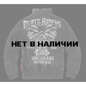 Толстовка Dobermans Aggressive на молнии Death Rider BCZ117 черная