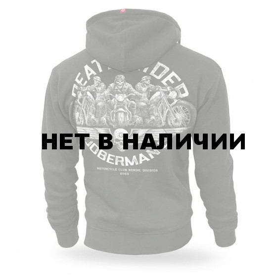 Толстовка Dobermans Aggressive с капюшоном Death Riders BZ166 олива