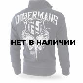 Толстовка Dobermans Aggressive на молнии Warrior II BCZ178 черная