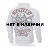Толстовка Dobermans Aggressive на молнии Nation Rebell BCZ184 серая