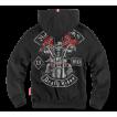 Толстовка Dobermans Aggressive с капюшоном Death Rider BZ123 черная