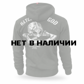 Толстовка Dobermans Aggressive с капюшоном Hatchet of God BZ182 олива