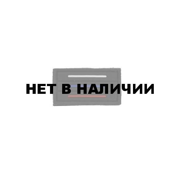 Патч Stich Profi ПВХ Флаг России тактический MINI 25х45 мм Цвет: Черный