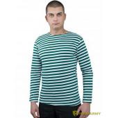 Тельняшка ProfArmy c длинным рукавом полоса зеленая