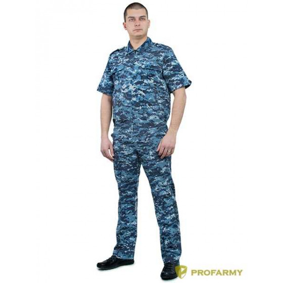 Костюм ProfArmy Лето с коротким рукавом, панацея синяя цифра