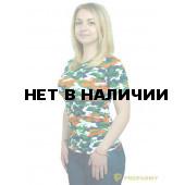 Футболка ProfArmy женская, короткий рукав, Orange Camo